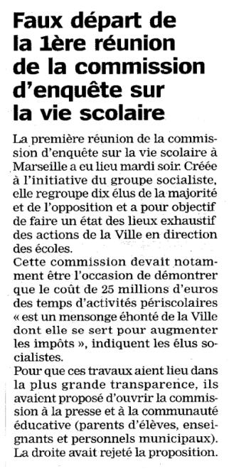 Article de La Marseillaise - 1er octobre 2015