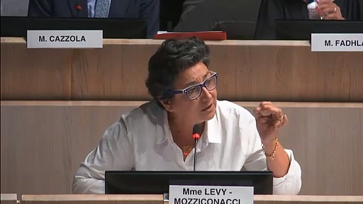 Annie Levy-Mozziconacci sur la délocalisation de l'école Cours Julien