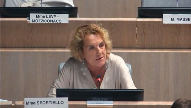Josette SPORTIELLO intervient sur l'aide du Département des BDR à la Ville de Marseille
