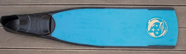 Powerfins fibre blue  de dessus