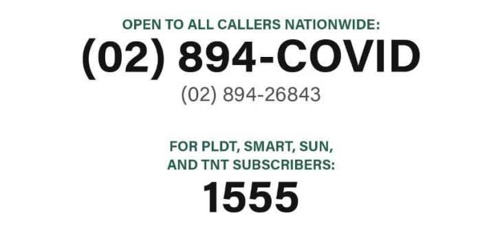 Official COVID-19 Hotline in the Philippines