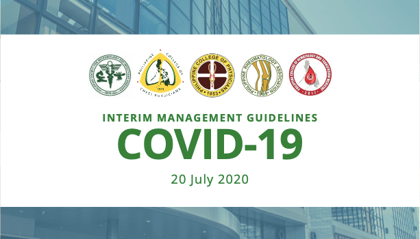 Interim Guidance on the Clinical Management of Adult Patients with Suspected or Confirmed COVID-19 Infection (Version 3.1)