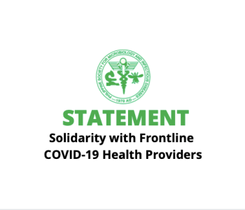 Statement of Solidarity with Frontline COVID-19 Health Providers