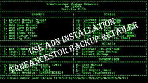 PS3 TrueAncestor Backup Retailer v2 30 [Updated] Download Free