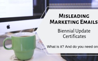 What is a biennial update certificate
