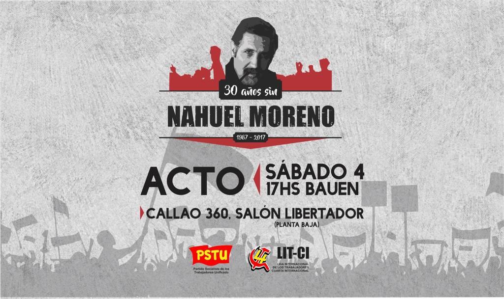 30 años #NahuelMoreno