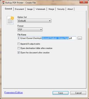 PDF virtual printer