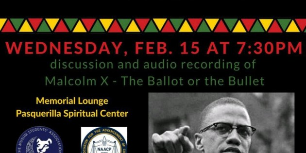 Muslim Student Association Celebrates Black History Month with Malcolm X Screening