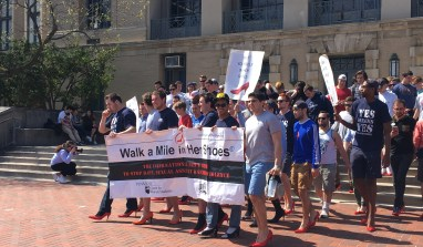 Men Against Violence Walk a Mile in Her Shoes