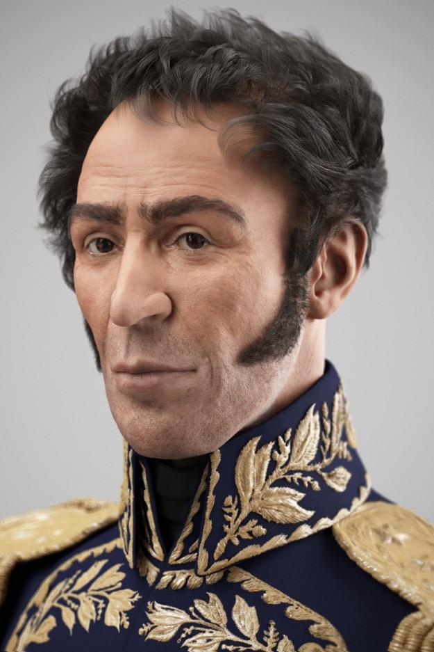 Rostro del Padre de la Patria Simón Bolívar