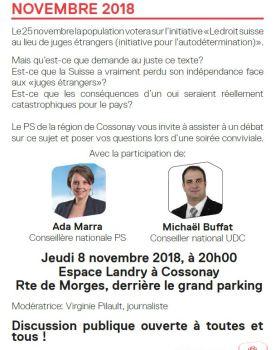 2018 11 08 – Débat