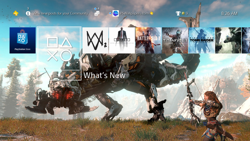 Horizon Zero Dawn     PS Wallpapers Coming this February  so get prepared with this custom PS4 wallpaper for Horizon  Zero Dawn