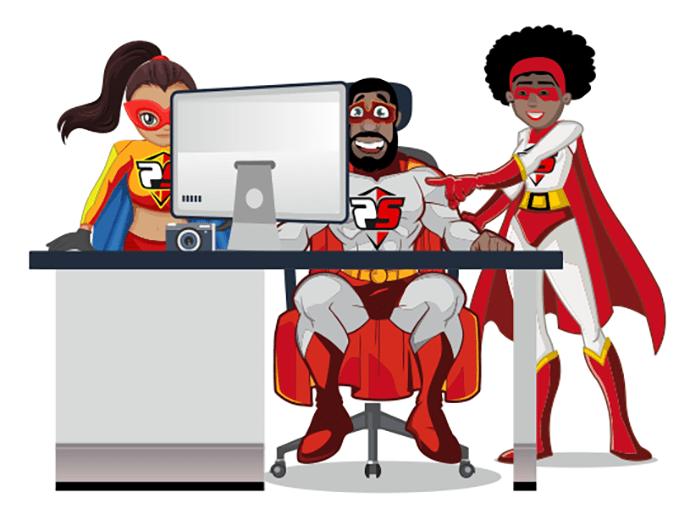 Web design super heroes