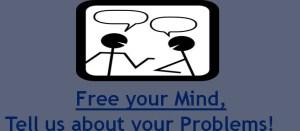 We listen graphics saying free your mind