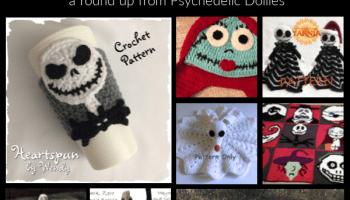 Nightmare Before Christmas Crochet Blanket.Jack Skellington Free Crochet Graph Pattern Psychedelic