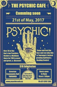 Psychic Cafe next meets 21st May 2017