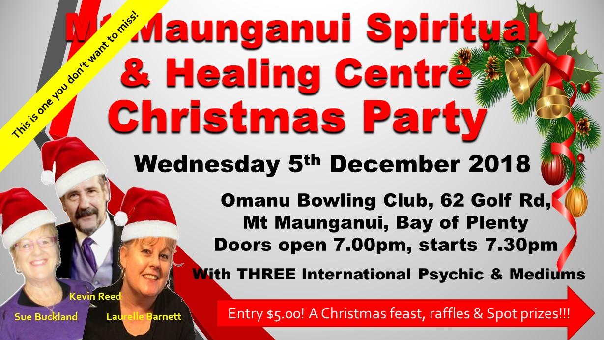 Mt Maunganui Spiritual & Healing Centre Xmas Meet the Mediums
