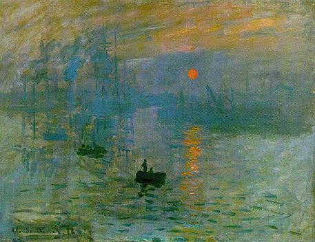 Impresia Východ slnka Claude Monet