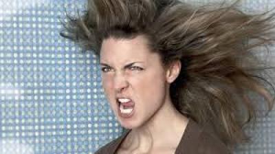 vystresovaná žena