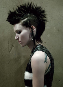 Lisbeth Salander in The Girl with the Dragon Tattoo