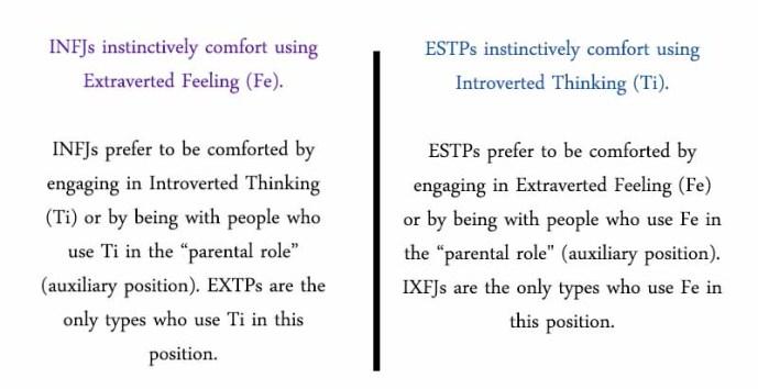 How #INFJs an #ESTPs nurture each other