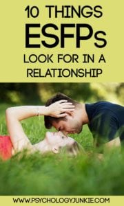 10 things #ESFPs look for in a relationship! #MBTI #personality