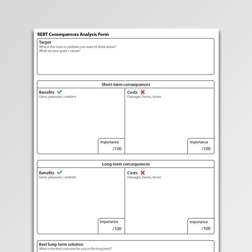 Rebt Consequencesysis Form Worksheet