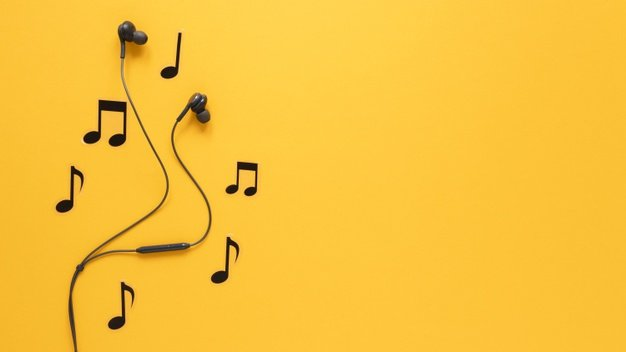 musical notes and earphones