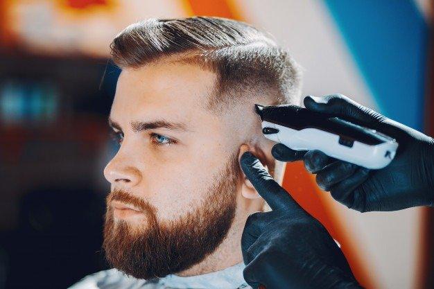stylish barbershop
