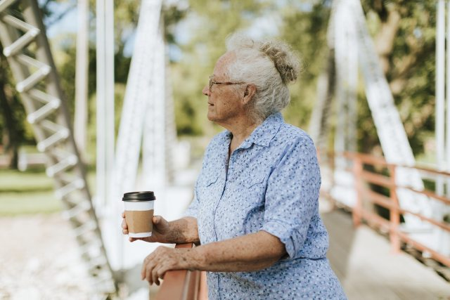 older woman thinking