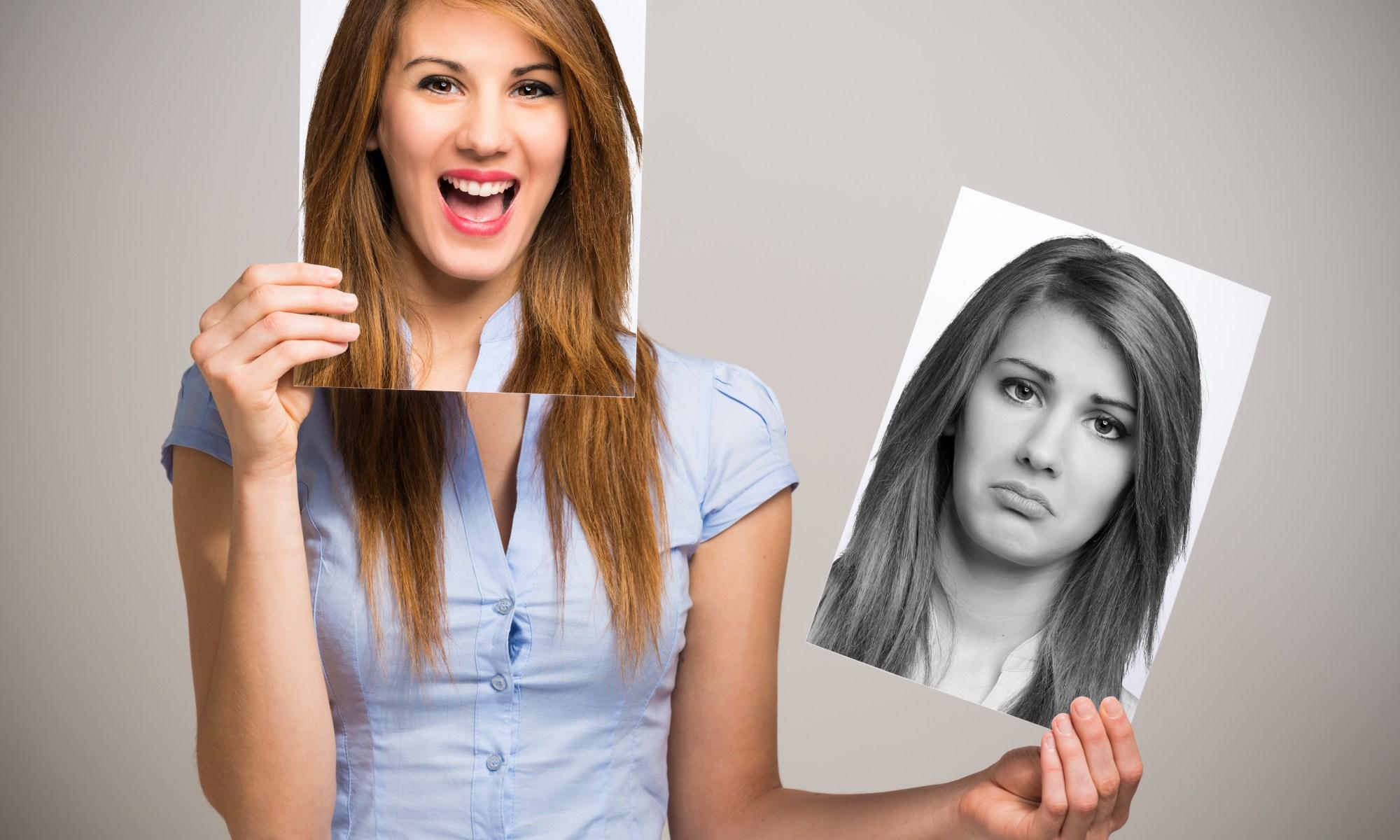 Happy vs. sad face