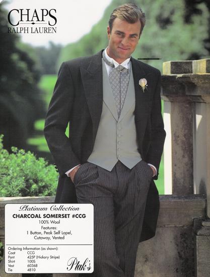Ralph Lauren Charcoal Somerset 1 B Cutaway Style#CCG