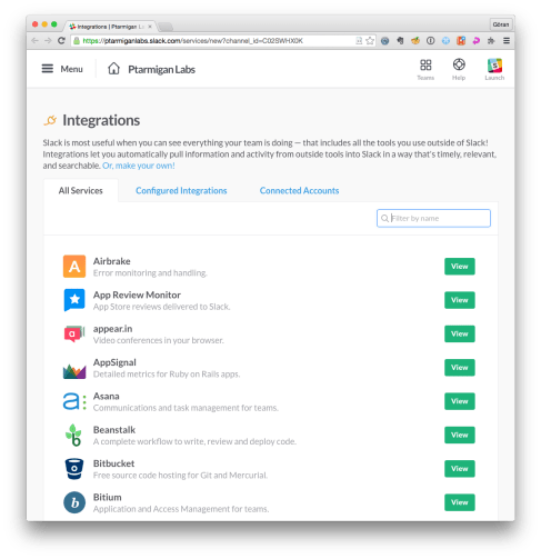 Slack 1 integrations