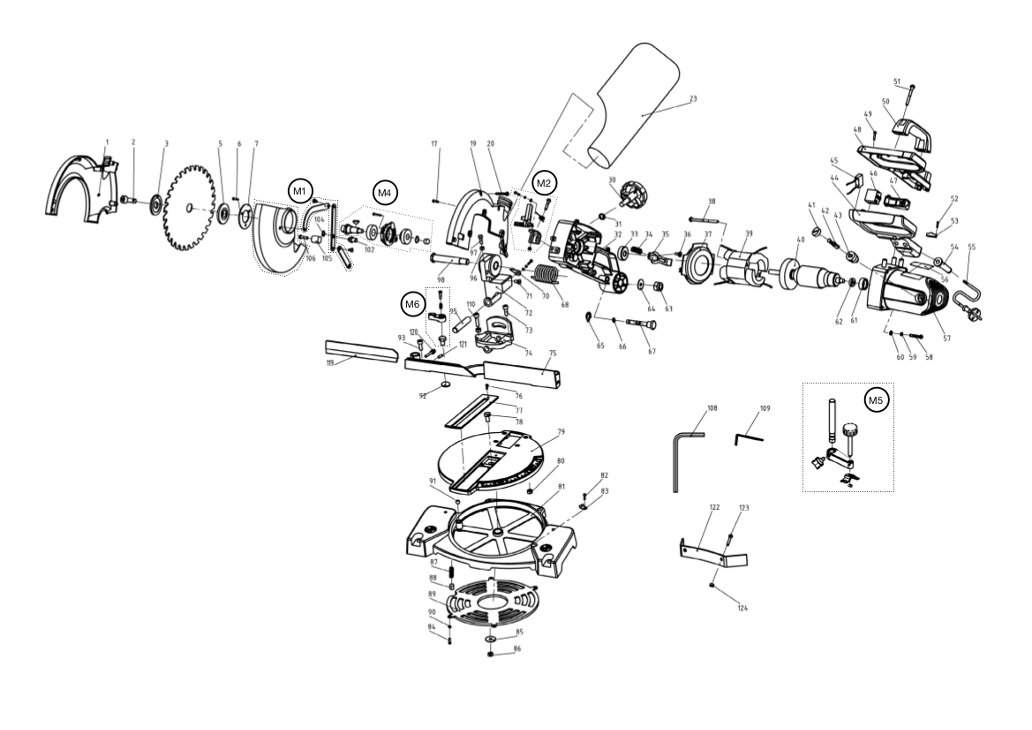 Spares For Evolution Rage3 B 240v 210mm Tct Multipurpose Compound Mitre Saw Spare Parts Spare