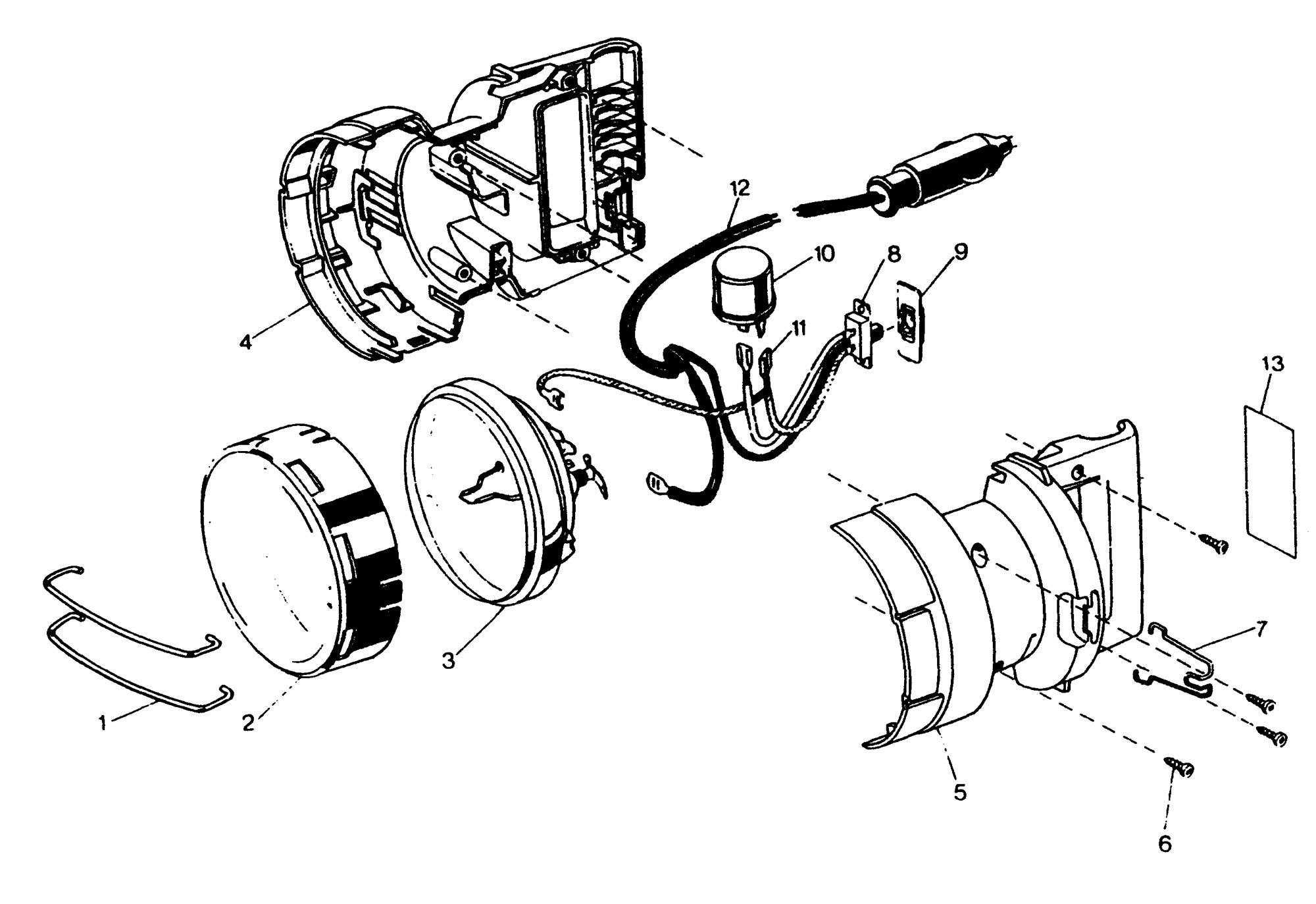 Spares For Black Amp Decker Car Light Type 1 Spare