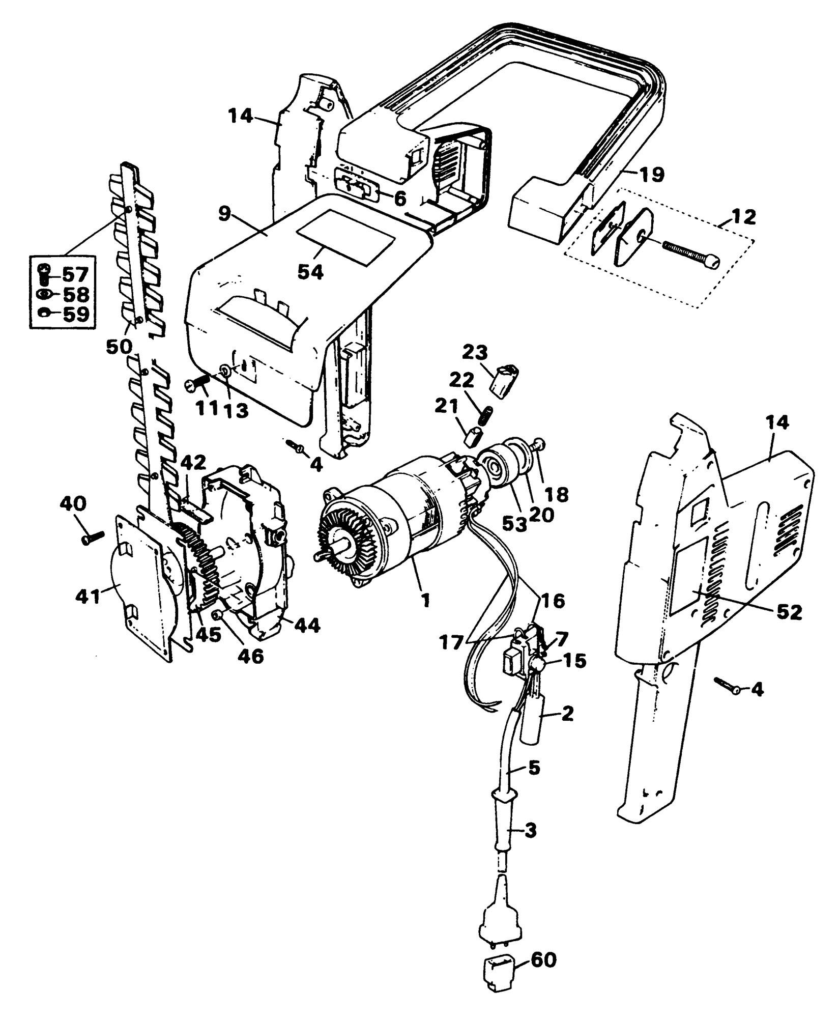 Spares For Black Amp Decker Gc380 Hedgetrimmer Type H1h H4