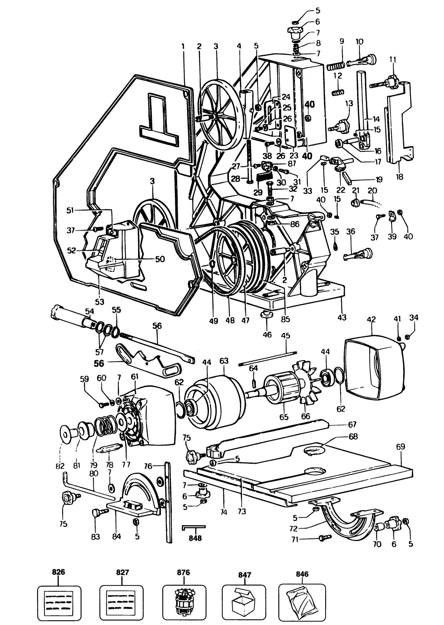 Spares For Black Amp Decker Bd339 A Bandsaw Type 1