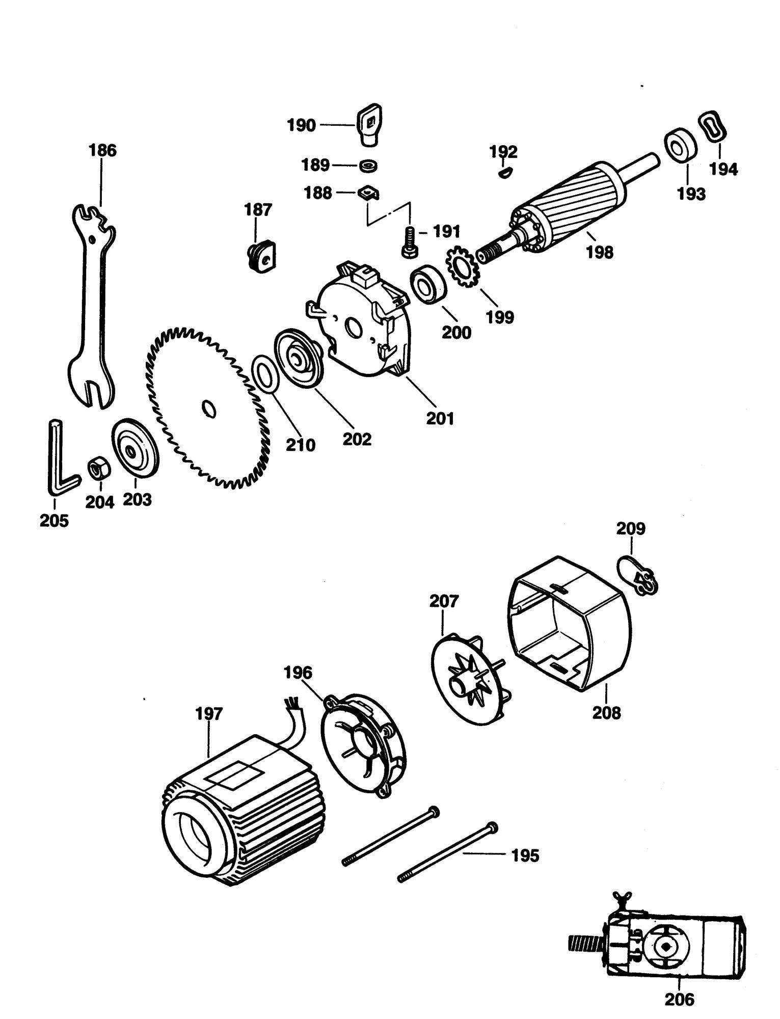 Spares For Elu Ras Radial Arm Saw Type 1ce Spare