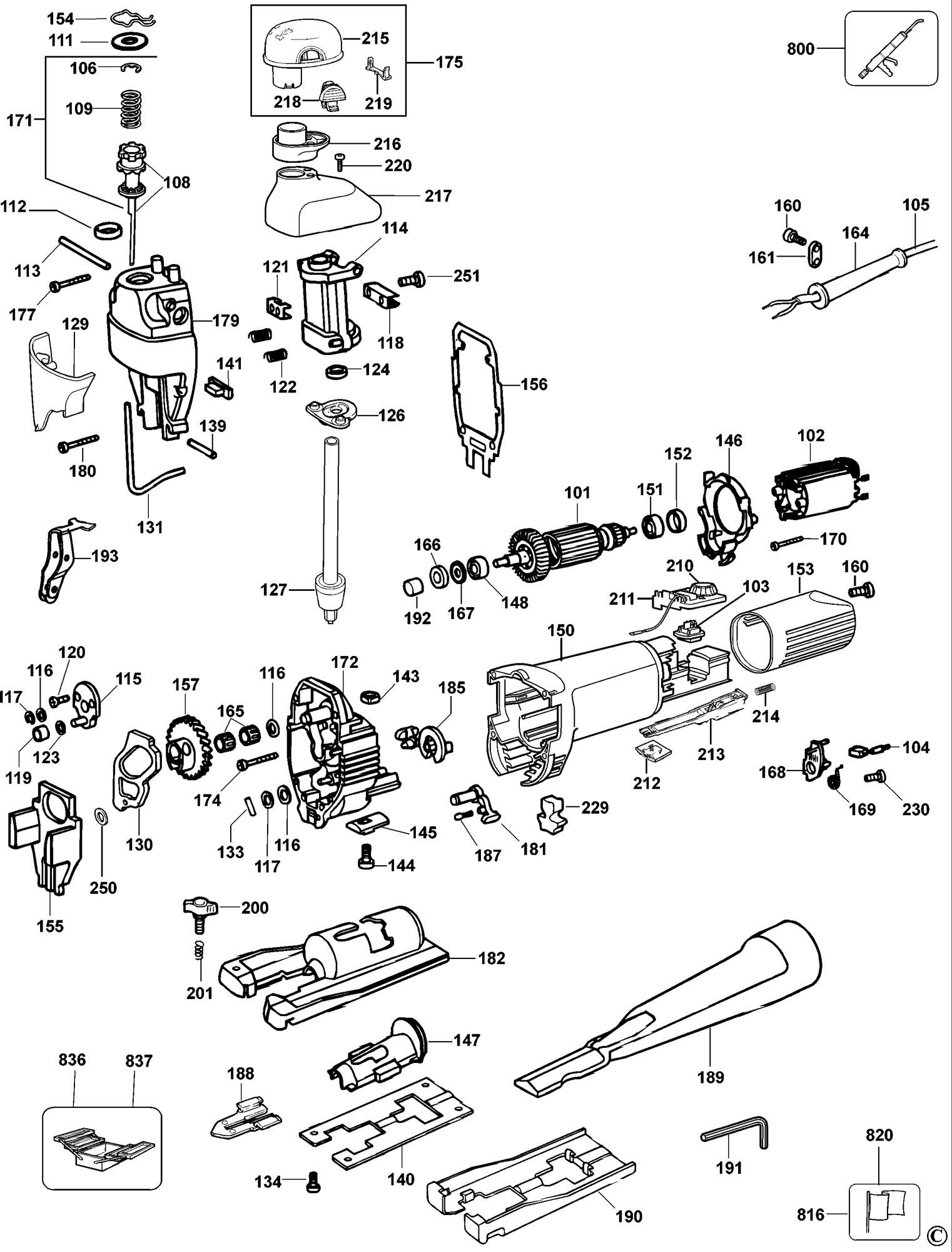 Spares For Dewalt Dw323 Jigsaw Type 3 Spare Dw323 Type 3