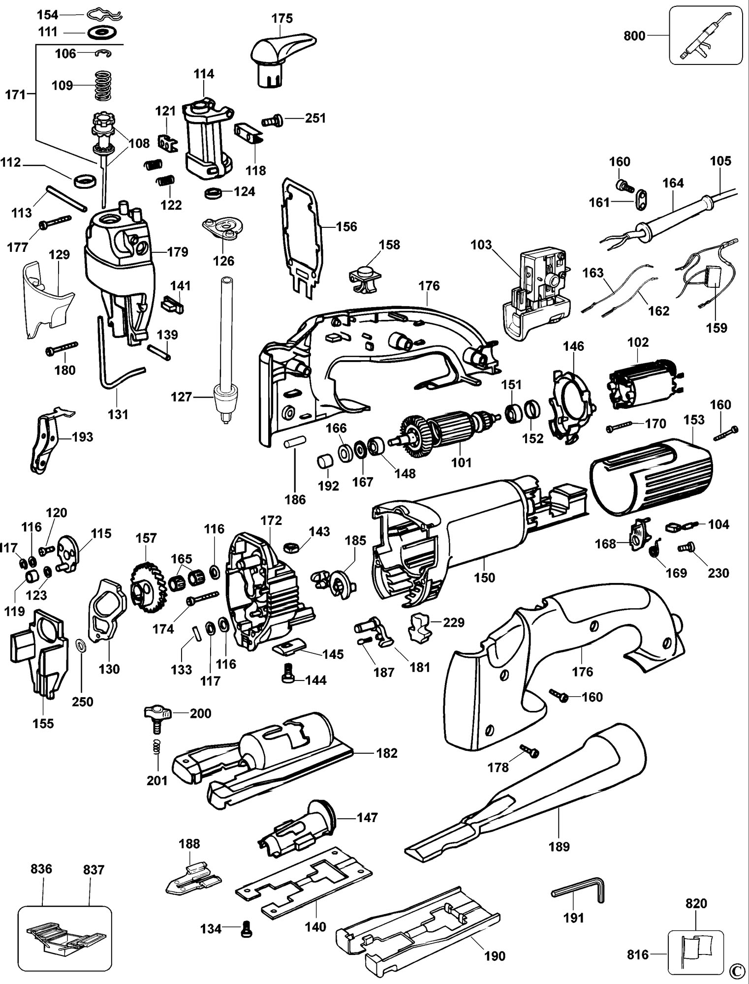 Spares For Dewalt Dw321 Jigsaw Type 3 Spare Dw321 Type 3