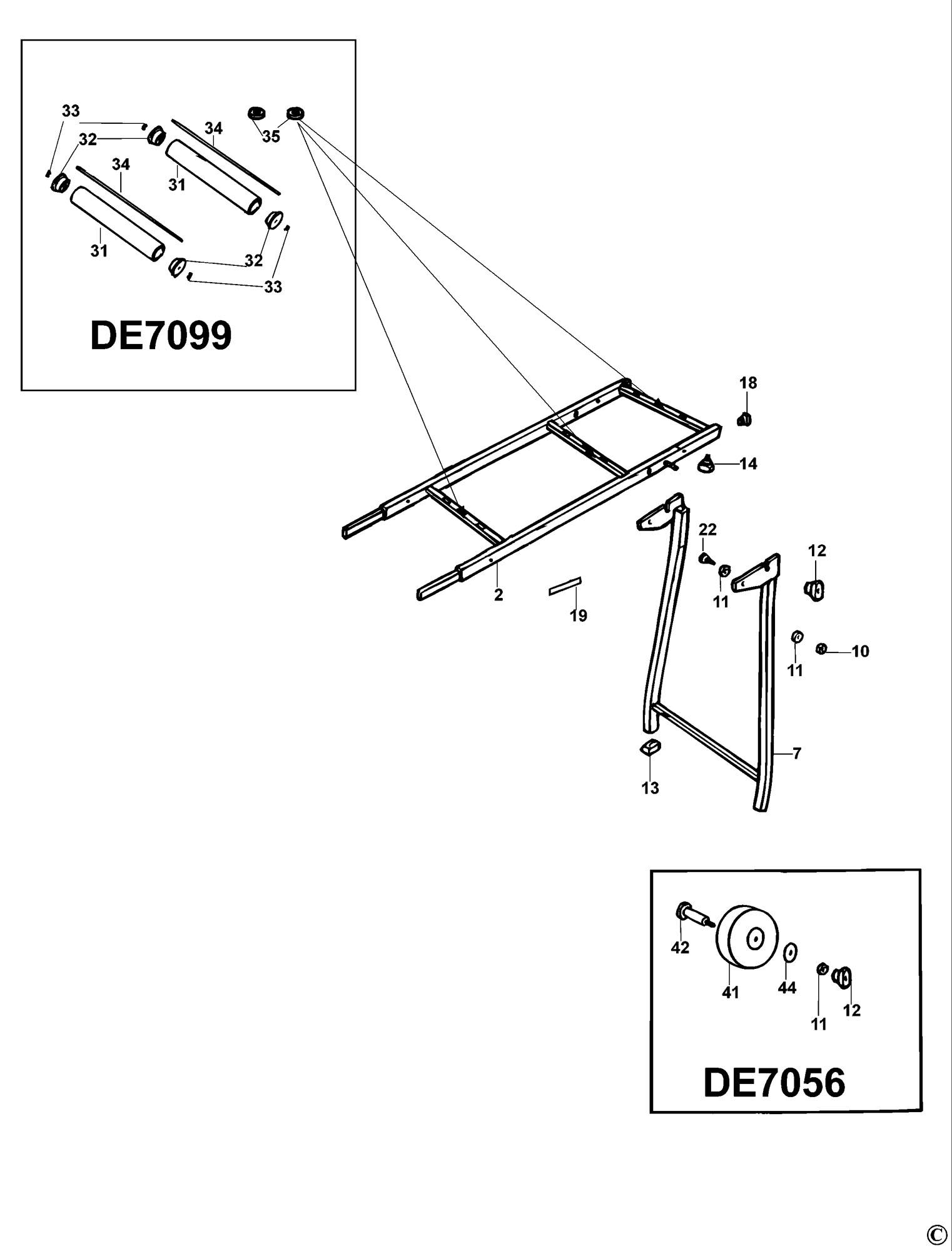 Spares For Dewalt De Extension Table Type 4 Spare