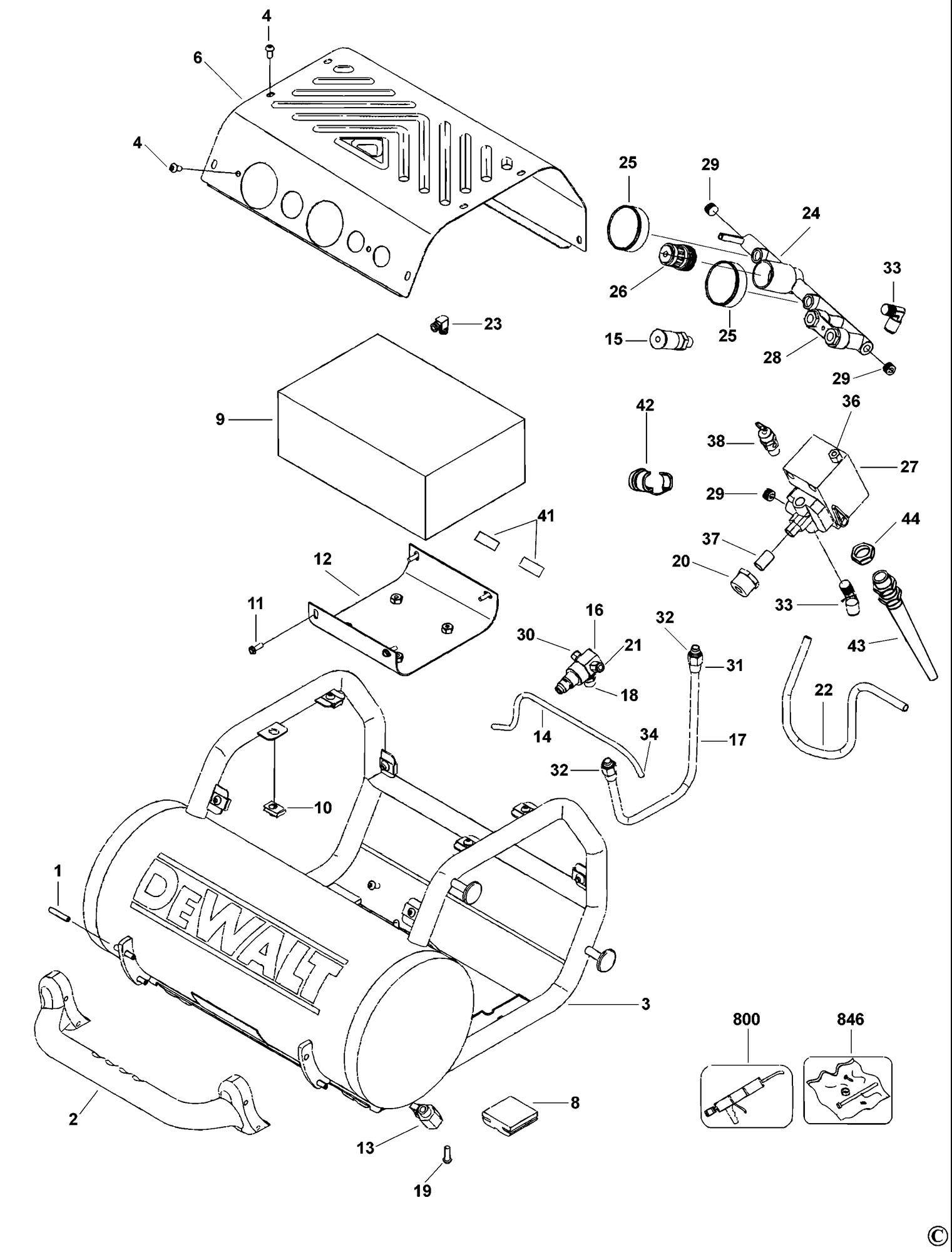 Spares For Dewalt D Compressor Type 1 Spare D