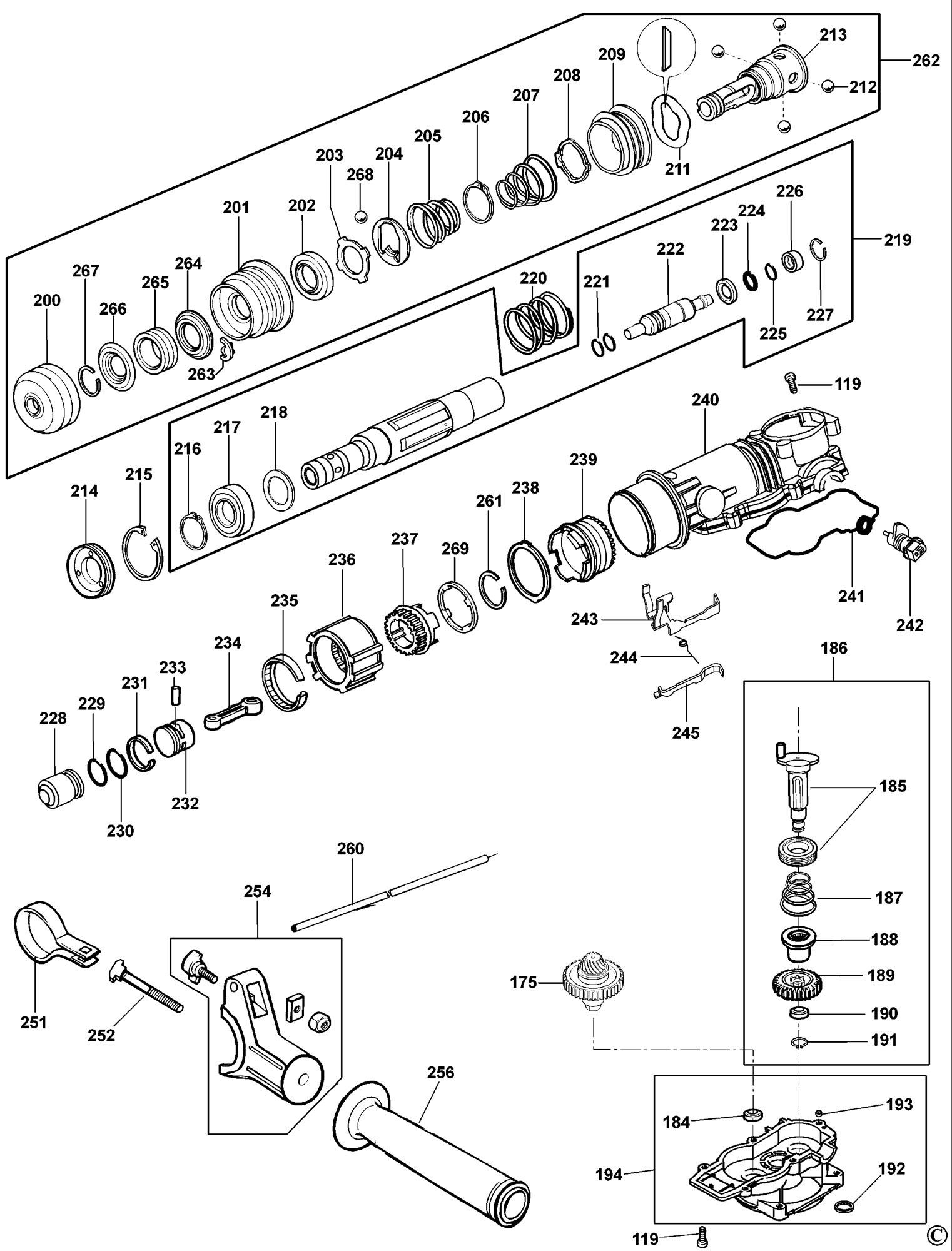 Spares For Dewalt Dw570k Hammer Type 2 Spare Dw570k Type