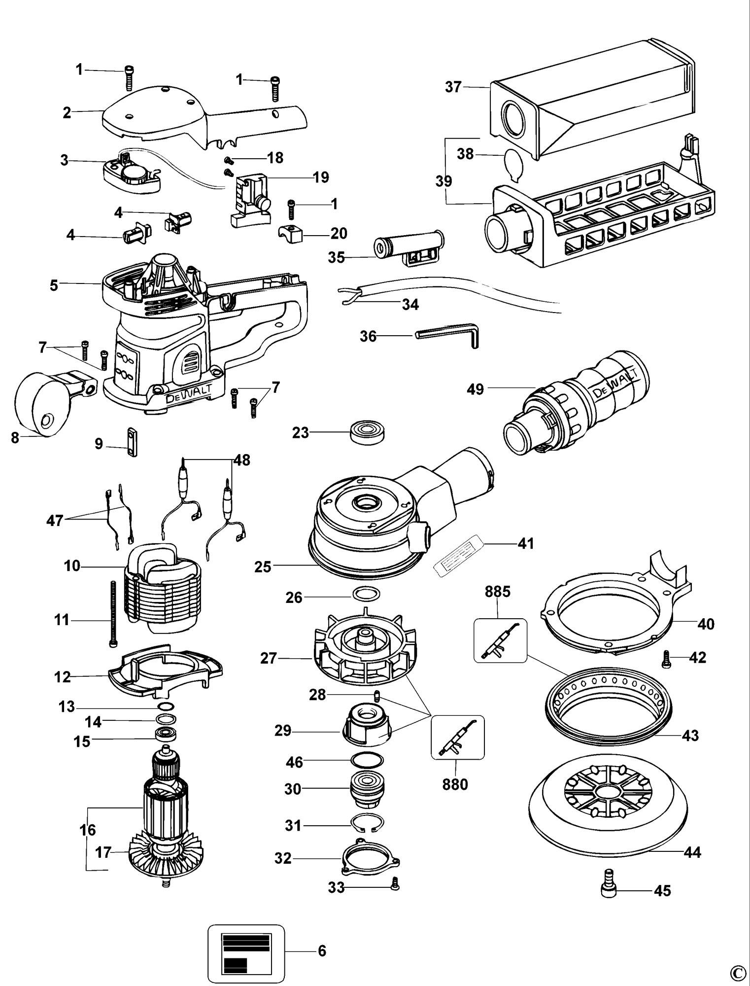 Spares For Dewalt D Sander Type 1 Spare D Type