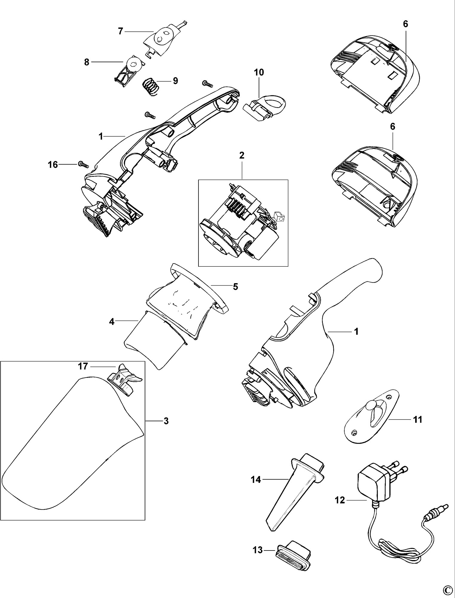 Spares For Black Amp Decker V C Dustbuster Type H1 Spare V C Type H1 From Power Tool Centre