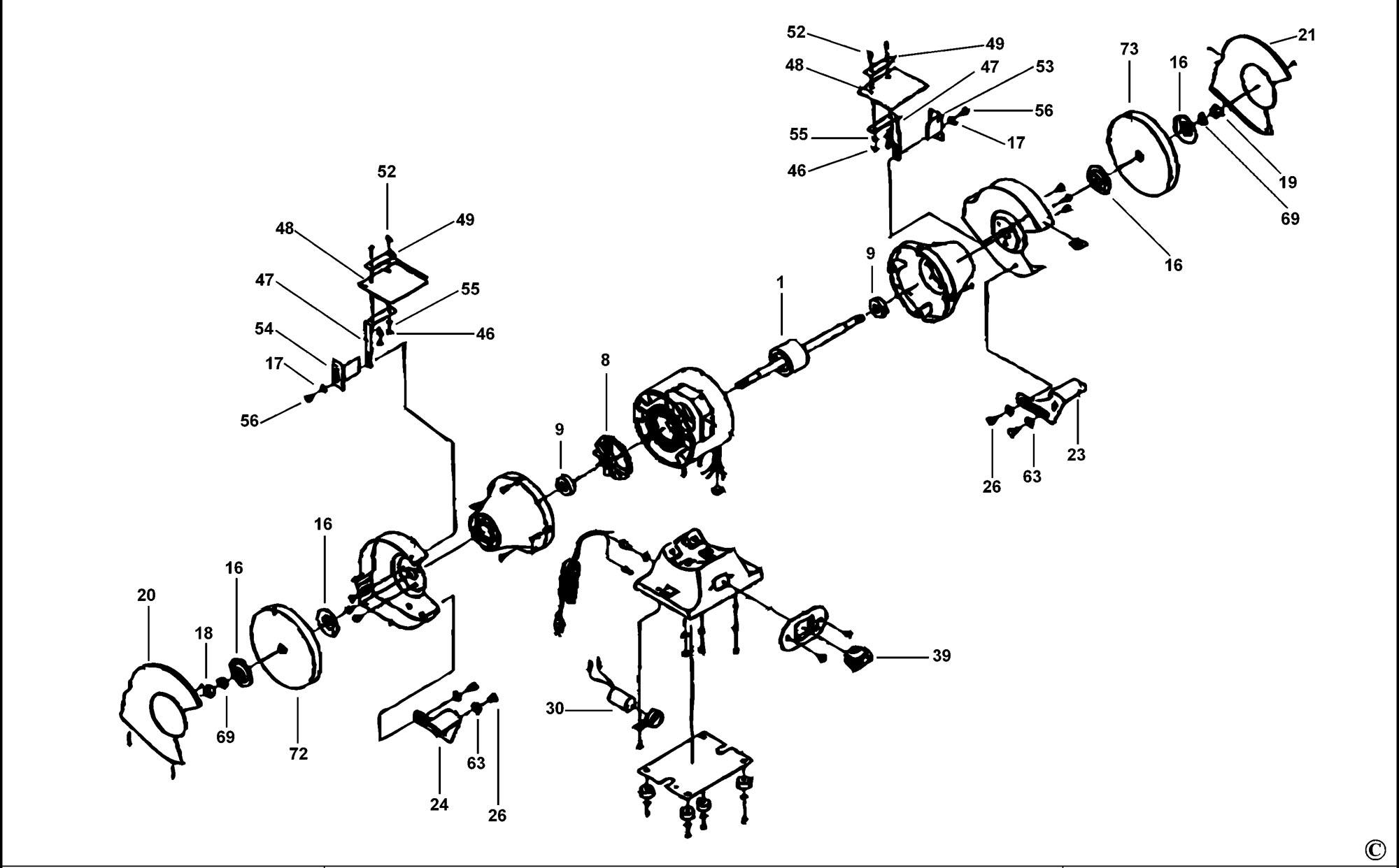 Spares For Black Amp Decker Kg Bench Grinder Type 1