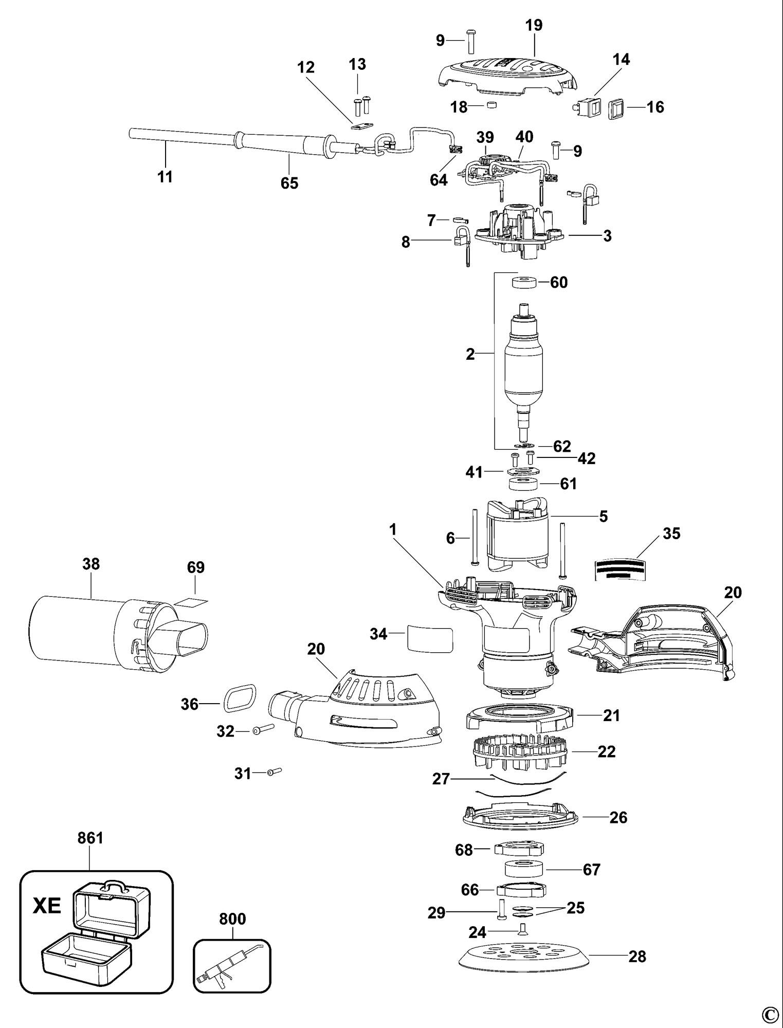 Dewalt Dwe7491rs Parts List And Diagram Type 1 Ereplacementparts