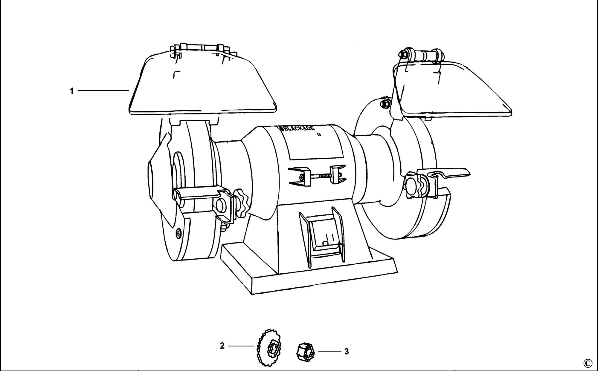 Spares For Black Amp Decker Bg Bench Grinder Type 1