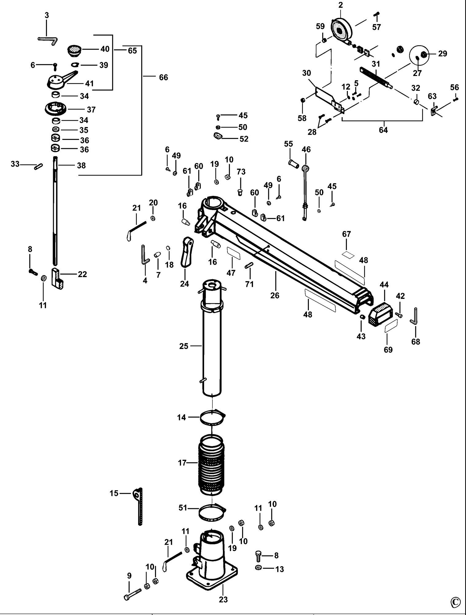 Spares For Dewalt Dw729kn Radial Arm Saw Type 1 Spare