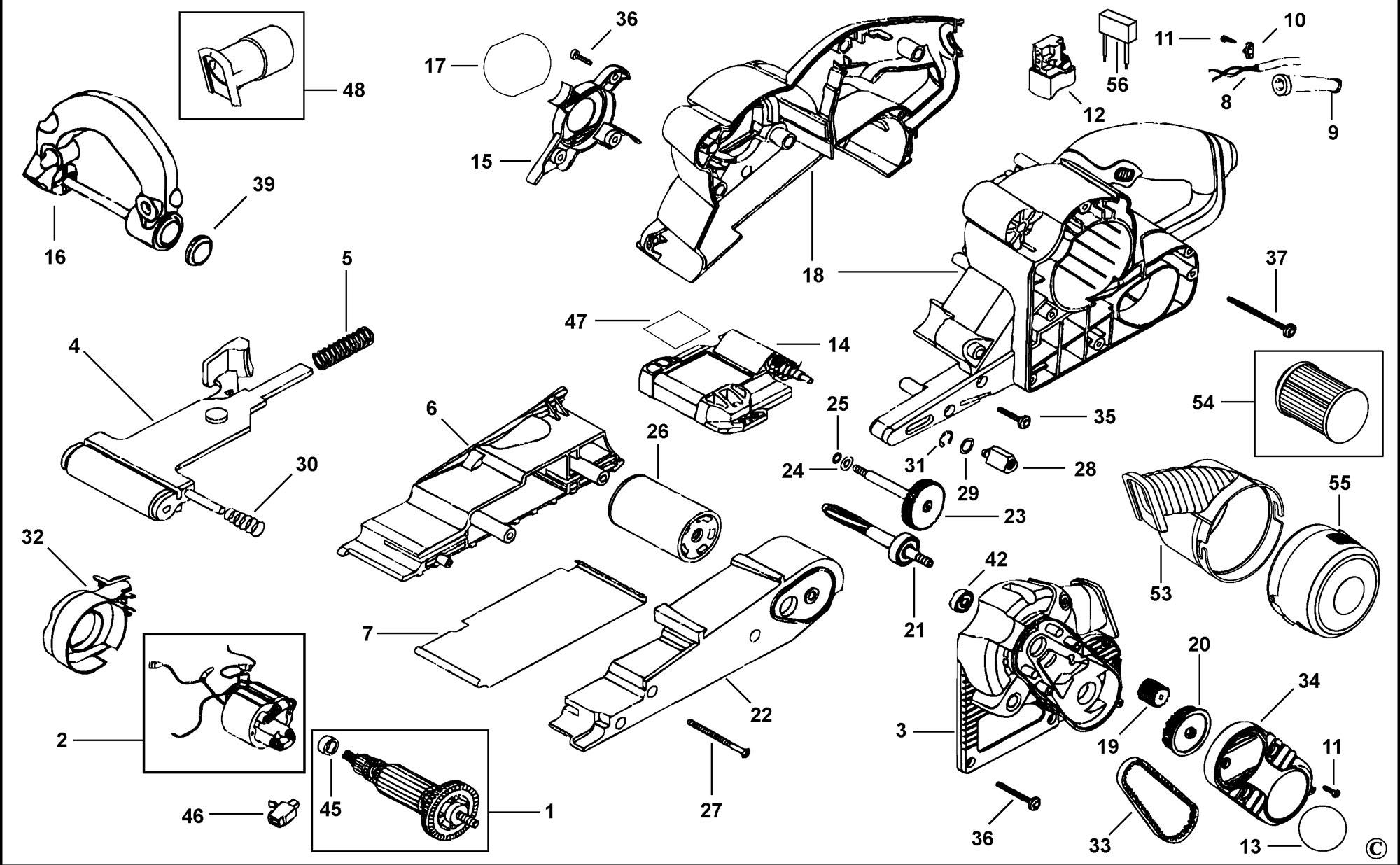 Spares For Black Amp Decker Ka88 Belt Sander Type 3 Spare
